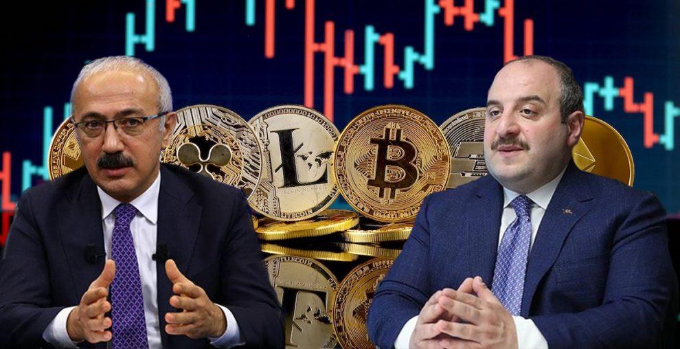 Hazine ve Maliye Bakanı Lütfi Elvan, Sanayi ve Teknoloji Bakanı Mustafa Varank kripto para piyasası hakkında konuştu.